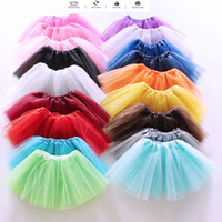 Wholesale Ballet Photography - Wholesales 18 colors Kids Girls Soft Tutu Dress Ballet Skirt 3-layers Baby Boutique Clothes as Newborn Photography Prop
