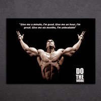 1 Pieces Bodybuilding Quote Saying Wall Art Canvas Pictures para Living Room Bedroom Home Decor Impressa Canvas Paintings