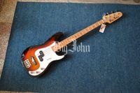 Wholesale Sunburst Bass - new Big John 4 strings electric bass guitar in sunburst with basswood body F-3335