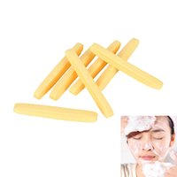 Wholesale yellow cleaning sponge - NEW Yellow Skin Care Soft Compressed Sponge Face Cleaning Sponge Facial Wash Cleaning Pad Exfoliator Cosmetic Puff Face Cleaning Puff