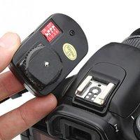 Wholesale 16 Channel Flash Trigger - Wholesale Universal 16 Channels Radio Wireless Remote Speedlite Flash Trigger 1 Transmitter & 1 Receivers for Nikon Canon Flashe Speedlite