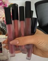 Wholesale Stocking Transparent - New Makeup 16 colors Matte Liquid Lipstick Lip Gloss in Transparent box High quality In stock DHL