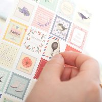 Wholesale Calendar Notebook - Wholesale- 8 Sheets set Beauties Of Springtime Series Stamps Stickers Diary Scrapbook Calendar Notebook Label Decoration Free Shipping