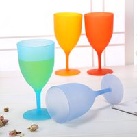 Wholesale Mouth Candy - Candy Colors Goblet Eco Friendly Plastic Red Wine Glass Cup Non Toxic Pokal Transparent Cups Smooth Mouth Goblets Home 1 18tj B R