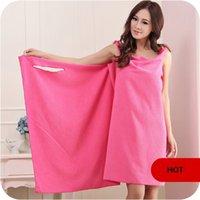 Wholesale Towels Can Wear - Variety can wear adult bath towel bathrobe super soft absorbent sleepwear female sexy cute sling bath skirts 76*155cm