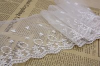 Wholesale Bilateral Lace - Wholesale- white bilateral lace ribbon lace embroidery lace DIY craft,15Y47508