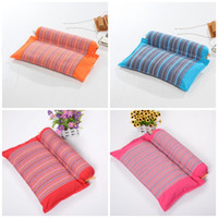Wholesale color charcoal - Buckwheat Pillow Pure Cotton Comfortable Sleep Health Care Back Cushion Multi Colors For Adult Present 16yk C R