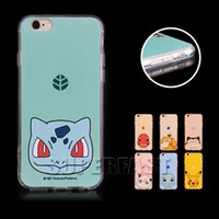 Wholesale Iphone Cases Pikachu - Poke Pikachu Case For iPhone 7 Pocket Monster Cartoon Case For iPhone 6 Soft TPU Case For iPhone 6 Plus 50Pcs with OPP Package