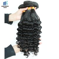 3 Bundle Straight Deep Wave Curly Funmi Cheveux Weave Brésilien Curly Virgin Remy Extensions de cheveux humains 8-28 inch Kiss Hair Fashion