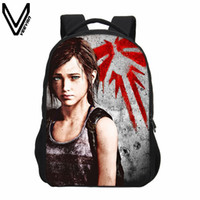 Wholesale Friends Man Bag - VEEVANV 2017 THE LAST OF US series, backpack casual style, men and women 3D printed daily travel bag, Zip Bag, friend gift