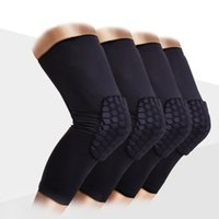 Wholesale 2017 Pc Knee Brace Honeycomb Kneepad Famous Brand Knee Pad Elbow Support Basketball Leg Sleeve Breathable Sport Bumper Barce