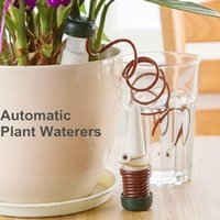 Wholesale Handmade Home Decor - 2pcs set Automatic Watering Flowers Potted Plant Supplies Tools DIY Home Desktop Decor Handmade Drip Water Seepage