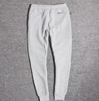 Wholesale fleece camo pants - Wholesale Tech Fleece Sport Pants Space Cotton Trousers Men Tracksuit Bottoms Man Jogger Tech Fleece Camo Running pant 2 Colors