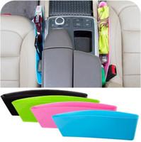 Wholesale Key Seat - Toughness Compressible Type Car Seat Crevice Debris Storage Box For Wallet Key Storage Box Seat Pocket Catcher CCA6692 1000pcs