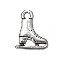 Wholesale Personalized Shoes Gold - Personalized Design Tibetan Jewelry Sports Skating Shoe Charms For Jewelry Findings