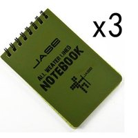 Wholesale Set of Green Waterproof All Weather Shower Aqua Notes Notepad Notebook