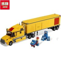 Wholesale Building Blocks Airport - Lepin 02036 298pcs City Great Vehicles City Airport TRUCK Building Blocks Figures Model Bricks Toys Compatible With 3221 Gifts