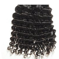 Wholesale 16 Inches Wavy Hair Styles - Wholesale deep wave virgin brazilian hair unprocessed virgin deep wavy hair natural color hair extensions maintain style long time