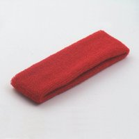 Cotton sports head football - 100pcs Red Color Sport Elastic Cotton Breathable Headband Tennis Basketball Football Cycling Head Protection Head Sweatband CM