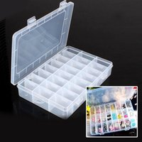 Wholesale Bead Storage Box 24 - Hot Sale New Practical Adjustable Plastic 24 Compartment Storage Box Case Bead Rings Jewelry Display Organizer