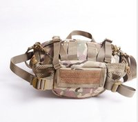 Airsoft Canvas Multifuncional Camo Fanny Pack Pocket Bolsa Viagem Tactical Durable Waterproof Nylon cintura Bum Belt Bag