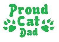 Wholesale Pet Doors For Cats - Jdm Proud Cat Dad Pet Funny Jdm Vinyl Decal Car Stickers For Car Window Glass SUV Door Die Cut Bumper Auto Parts Scratches Motorcycles Wall