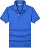 Wholesale Mens Designer Polo Shirts - Hot classic mens European summer 100% cotton polo shirts top quality designer man casual Sport Shirt Brit style Short sleeve T-Shirt