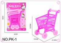 Wholesale Cart For Toys - 2017 Cute Mini Children Supermarket Shopping Cart With Full Grocery Food Toy Fun Prentend For Kids Children Kitchen Play Toys