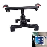 Wholesale Ipad Car Mount Wholesale - Wholesale- 360 Degree Car Seat Headrest Stand Mount Bracket Clip 7-11inch Backseat holder for iPad Air Mini QJY99