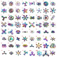 Wholesale Spiders Toys - Rainbow Fidget Spinner Fast New Fidget Spinners Metal Spider Man Figit Hand Spinner Dragon Animal Bulk Toys Finger Shenzhen with Retail Box