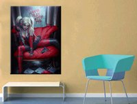 Wholesale Giclee Wall Art - Unframed batman girl Giclee Fashion Wall Art Oil Painting On Canvas Textured Abstract Paintings Picture Decor Living Room Decor
