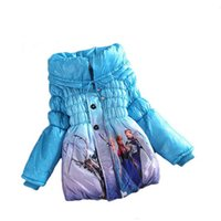 Wholesale Baby Puff Jackets - 2016 Winter Girls Coat Long Sleeve Snow Queen Outwear Coat Cotton Paddad baby Kids Clothing Outfits Jackets for children