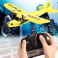 Wholesale Epp Planes - FX803 RC Helicopter Plane Glider Airplane EPP Foam 2CH 2.4G Drone (Color: Yellow)