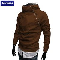 Wholesale Wholesale Clothing Hoodies - Wholesale- Autumn Winter Mens Hoodies And Sweatshirts Male Fashion Stand Hoodies Solid Cotton Coats Outwear Plush Size Men Brand Clothing