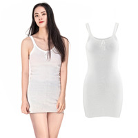 Wholesale Seamless Spaghetti Straps Tops - Wholesale- summer fashion sexy women white Spaghetti Strap casual Long Tank Top lady soft elastic seamless Camisole