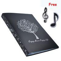 Wholesale a4 paper storage - New Music Sheet File Paper Documents Storage Folder Holder Plastic A4 Size 40 Pockets Black