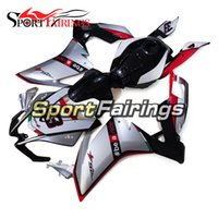 Wholesale Motorbike Aprilia Fairings - torcycle Fairing Kit ABS Full Fairings For Aprilia RS4 125 2012 Injection ABS MoBody Kit Motorbike Hulls Cowlings Silver Black Red