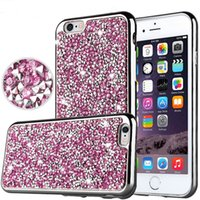 lg diamante al por mayor-Para iPhone X 8 Diamond TPU Funda Crystal Luxury Glitter Bling Flash Cubierta suave para Samsung Galaxy On5 S7 Edge Huawei Mate8 LG tributo hd ls67