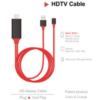 Wholesale Dock Hdmi Adapter Cable - Dock to HDMI HDTV AV TV Cable USB Cable 1080P Adapter for mobile phone