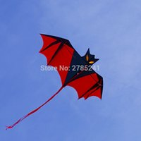 Wholesale Birds Kites - Wholesale- High Quality 190cm Huge Bat Kite red single line 3D Bird Animal Kite for Kids&Adults Beach&Square