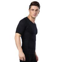 Wholesale Shaper Mens Undershirt - Fashion Style Free Shipping New 1pc Black Color men's slimming body shaper undershirt mens spandex Underwear