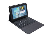 Wholesale Galaxy Tab Wireless Keyboard - Bluetooth Wireless Keyboard Leather Case Bracket Stand For Samsung Galaxy Tab 2 P5100 P5110   Galaxy Tab P7500 P7510
