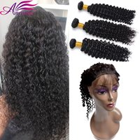 Wholesale Deep Wave Human Hair 4pcs - 360 Lace Frontal Indian Deep Wave Human Hair Bundles with 360 Closure 4PCS Lot Indian 3 Human Hair Bundles with 360 Weave