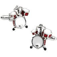 Wholesale Free Shipping Drum Set - Drum Sets Cufflink Cuff Link 3 Pairs Wholesale Free Shipping Promotion