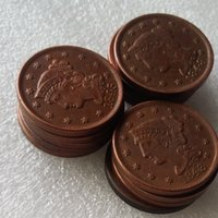 Wholesale wholesale copper coins - US Coins full set(1839-1852) 14pcs Braided Hair Large Cents 100% Copper Coins Promotion Cheap Factory Price nice home Accessories Coins