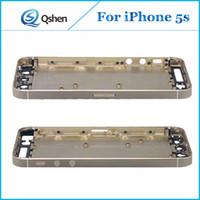 Wholesale Wholesale Cellphone Replacement Parts - 10pcs lot For iPhone 5S 5G Back Housing Battery Door Cover Case Replacement 5G 5S Cellphone Parts