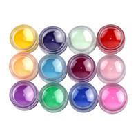Wholesale 3d Decor For Nails - Wholesale- Hot Sale 12 PCS Mix Color 3D Acrylic Nail Art Powder Pigment Glitter Dust Set Kit For Effect Beauty Nail Art Decor