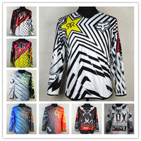 Wholesale Bicycle Silk - 2017 2016 ANSWER Rock Star Moto Jersey MX MTB Off Road Mountain Bike DH Bicycle Jersey DH BMX Motocross jersey 3 styles