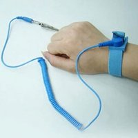Wholesale Esd Straps - ESD Wrist Strap alligator clip Anti Static Discharge Band Grounding Prevent Static Shock Wholesale