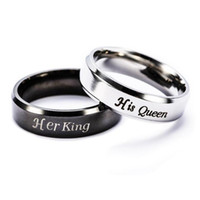 Wholesale Forever Days - King And Queen Couple Rings Stainless Steel Crown Rings For Couples Lovers Forever Love Promise Rings For Men Women